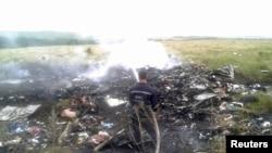 Lokasi jatuhnya pesawat Malaysia Airlines MH17 Boeing 777 di Grabovo, provinsi Donetsk, Ukraina.