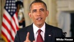 美國總統奧巴馬每週例行講話