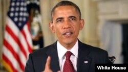 Presiden Obama menyampaikan pidato mingguannya dari Gedung Putih, Washington DC (Foto: dok).