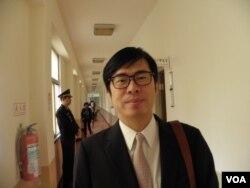 民进党籍立委陈其迈3月25日在立法院(申华拍摄)