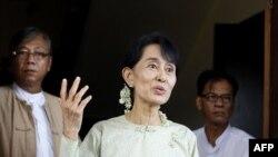 Bà Aung San Suu Kyi, lãnh tụ đấu tranh cho dân chủ Miến Ðiện