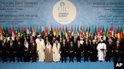 گزشتہ سال اپریل میں استنبول میں ہونے والے مسلم ممالک کے سربراہی اجلاس کی فائل فوٹو
