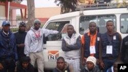 Brigadistas do censo populacional no Namibe