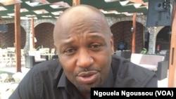 Président d'une fondation qui porte son nom, Joe Washington Ebina dénonce l'abandon des déplacés du Pool, au Congo-Brazzaville, le 7 février 2018. (VOA/Ngouela Ngoussou)