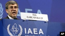 Fereidoun Abbasi Davani, Iran's Vice President and Head of Atomic Energy Organization delivers a speech at the general conference of the International Atomic Energy Agency, IAEA, in Vienna, Austria, Sept. 17, 2012.