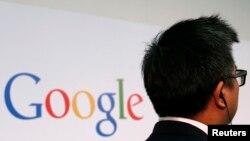 Logo Google dalam sebuah acara di sebuah Universitas di Hong Kong, 4 November 2013 (Foto: dok).