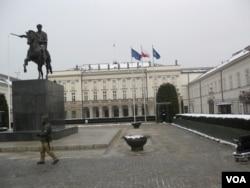 位于华沙的波兰总统府。