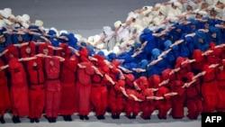 索契殘奧會開幕式中的一個場景
