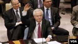 Duta besar Rusia untuk PBB, Vitaly Churkin mengusulkan rancangan resolusi baru mengenai Suriah.