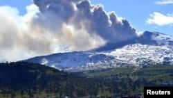Núi lửa Copahue nằm trong vùng biên giới Chile giáp ranh Argentina