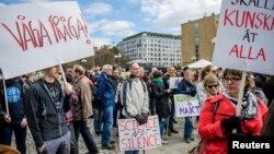 راهپیمایی برای علوم در استکهلم، پایتخت سوئد