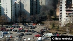 Eksplozija u podgoričkom naselju Blok pet
