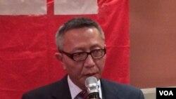 达赖喇嘛驻北美办事处华人事务负责人贡嘎扎西(美国之音 方冰拍摄)
