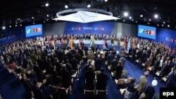 Hội nghị thượng đỉnh NATO diễn ra tại Sân vận động Quốc gia ở Warsaw, Ba Lan, ngày 8/7/2016.