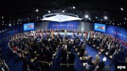 Sommet de l'OTAN au Stade national à Varsovie, en Pologne, le 8 juillet 2016.