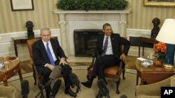 Tổng thống Hoa Kỳ Barack Obama (phải) hội đàm với Thủ tướng Isral Benjamin Netanyahu tại Tòa Bạch Ốc hôm 5/3/12