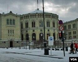 挪威议会(美国之音王南拍摄)