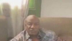 Foto de um vídeo mostrando o presidente Condé sob prisão