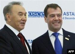 Nazarboyev va Medvedev
