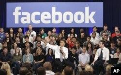 Barack Obama à Facebook