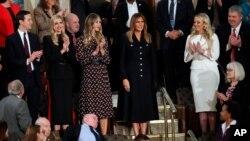 Birliğin Durumu konuşmasını izlemeye gelen Başkan Trump'ın ailesi
