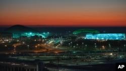Vòm băng Bolshoy, Khu vực trượt băng Iceberg, và Sân vận đông Olympic Fisht ở Sochi