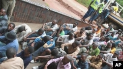 A group of 46 social and human rights activists, led by Munyaradzi Gwisai is alleged to have organized a meeting, appear in court in Harare, February 23, 2011