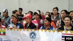 migrant worker protest