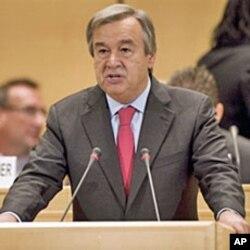 UNHCR High Commissioner Antonio Guterres in Geneva, Switzerland, 04 Oct 2010