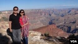 Antono Dewanto dan isteri, juga mengalami bulan Ramadan pertamanya di Amerika (foto: dok).