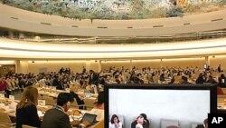 제네바에서 열린 유엔 인권이사회. (자료사진)