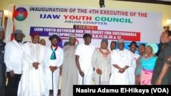 Matasan Ijaw daga yankin Niger Delta dake zaune a Abuja inda Manjo Al-Mustapha ya kasance baban bakon da yayi jawabi