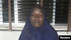 2년전 나아지리아 치복 마을에서 보코하람에 납치됐던 두번째 소녀 미스 세라 루카 양이 구출됐다. 나이지리아 군이 19일 공개한 루카 양의 사진.