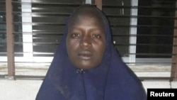 An undated picture released on May 19, 2016 by the Nigerian army of the second rescued Chibok schoolgirl in Nigeria.