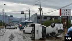 Suasana di kawasan Nagano, Jepang, pasca hantaman topan Higibis, 14 Oktober 2019. (Foto: dok).