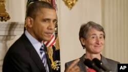El presidente Barack Obama dijo que Sally Jewell, del estado de Washington, tiene amplia experiencia en la conservación de tierras públicas, agua y vida silvestre.