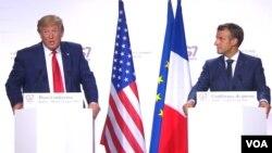 کنفرانس خبری مشترک رهبران فرانسه و امریکا