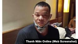 Công dân Trung Quốc Gao Liang Gu, 42 tuổi, bị công an Đà Nẵng bắt hôm 25/7 vì tổ chức đưa người Trung Quốc vào Việt Nam trái phép. (Ảnh chụp màn hình Thanh Niên)