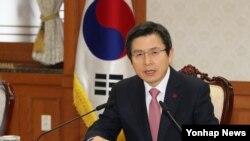 황교안 한국 대통령 권한대행 (자료사진)