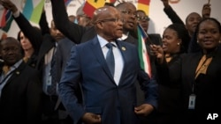 Jacob Zuma au sommet de l'Union africaine, le 14 juin 2015. (AP Photo/Shiraaz Mohamed)
