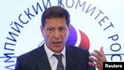 Le directeur du comité olympique russe Alexander Zhukov a donné une conférence de presse à Moscou, Russie, le 20 juillet 2016.