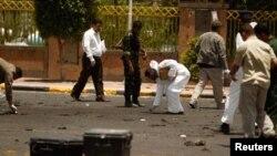 محل حملۀ انتحاری در جمع از عساکر نظامی یمن