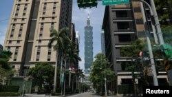 台灣台北街景。(2021年5月20日)