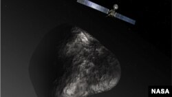 Imagen de la sonda europea Rosetta cerca de un cometa (foto: ESA/NASA)