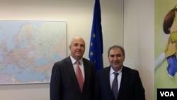 Cəmil Həsənli Avropa Şurasının İnsan Haqları üzrə Komissarı Nils Muizneks ilə görüşüb