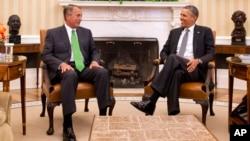 La conversación entre Boehner y Obama en la Casa Blanca se extendió por una hora.