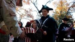 Upacara peringatan hari Veteran di Concord, Massachusetts (11/11).