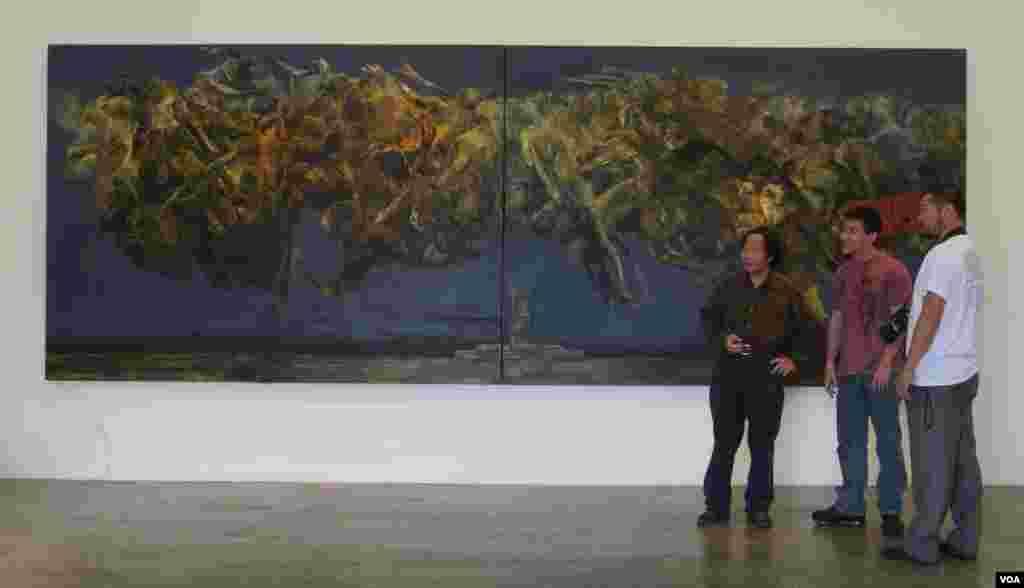 1989中国档案是展览大厅的焦点(美国之音记者国符拍摄)
