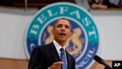 奥巴马6月17日在贝尔法斯特