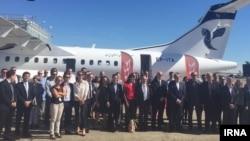 مراسم تحویل هواپیماهای ای تی آر به هیات ایرانی در فرودگاه تولوز فرانسه